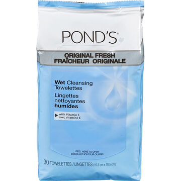 Pond's Cleansing and Makeup Removing Towelettes - Vitamin E, Chamomile & Green Tea - 30s