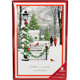 Deluxe Landscapes Christmas Cards - Assorted - 14 pack