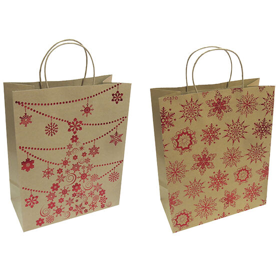 Christmas Kraft Gift Bag - Large - Assorted