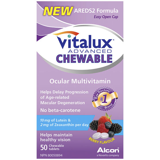 Vitalux Advanced Chewable Ocular Multivitamin - 50's