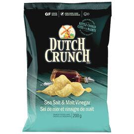 Dutch Crunch Kettle Cooked Potato Chips - Sea Salt & Malt Vinegar - 200g