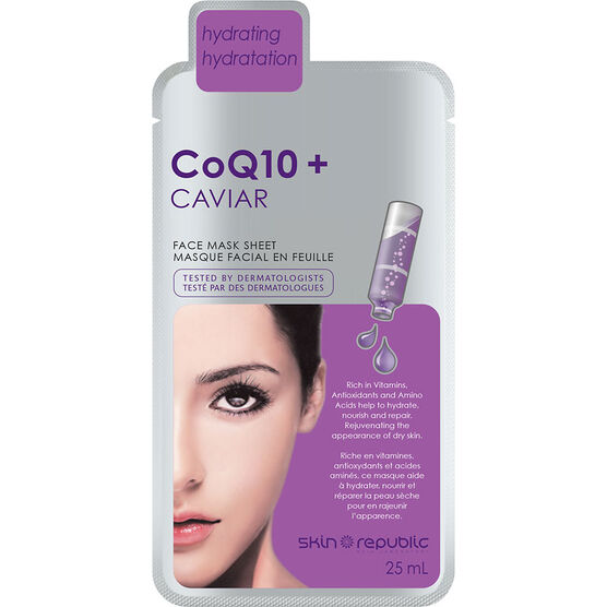 Skin Republic CoQ10 + Caviar Face Mask Sheet - 25ml