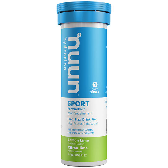 Nuun Active Effervescent Electrolyte Supplement - Lemon Lime - 10's