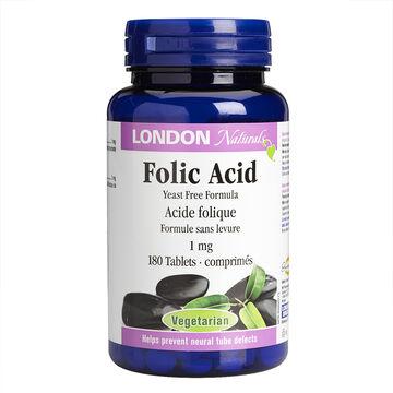 London Naturals Folic Acid Softgels - 1mg - 180's