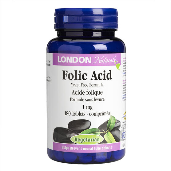 London Naturals Folic Acid Softgels - 1mg - 180's