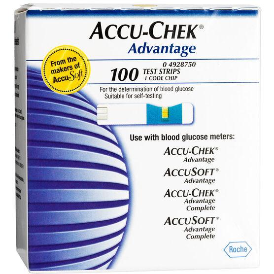 Accu-Chek Advantage Test Strips - 100's