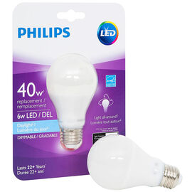 Philips Real LED Bulb A19 - Daylight - 6.5w=40w