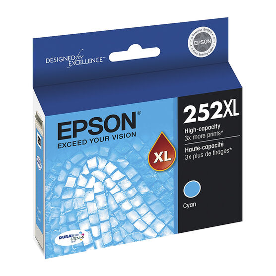 Epson T252XL Ink Cartridge - Cyan - T252XL220-S