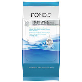 Ponds MoistureClean Towelettes - Original Fresh - 28's