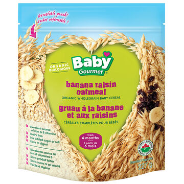 Baby Gourmet Cereal - Banana Raisin Oatmeal - 227g