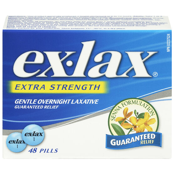 Ex-Lax Extra Strength Laxative Senna Formulation - 48's