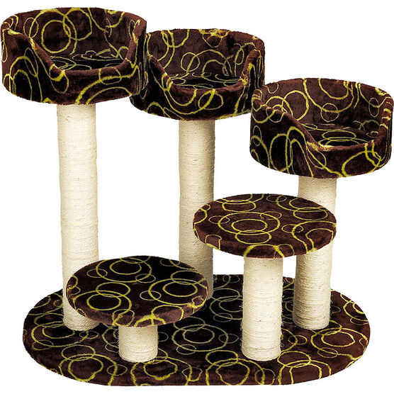 London Drugs Cat Tree - Swirls - 5 Level