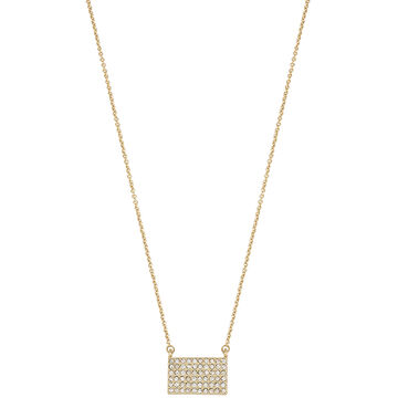 Kenneth Cole Plaque Pendant - Crystal/Gold Plated