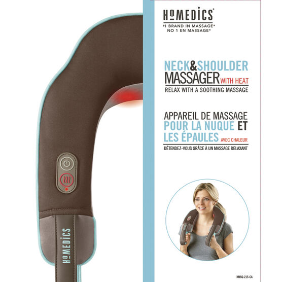 Homedics Neck & Shoulder Massager with Heat - NMSQ-215-CA