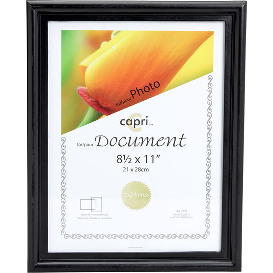 KG Embassy 8.5x11 Document Frame - Black
