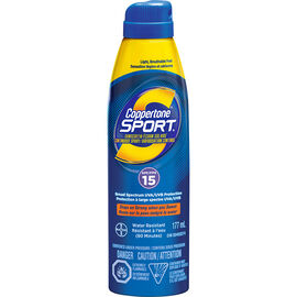 Coppertone Sport Continuous Spray Sunscreen - SPF15 - 177ml