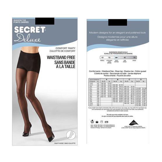Secret Deluxe Waistband Free Comfort Top - A - Black