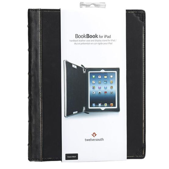 Twelve South BookBook Hardback Leather Case for New iPad/iPad 2 - Black - TS-12-1209