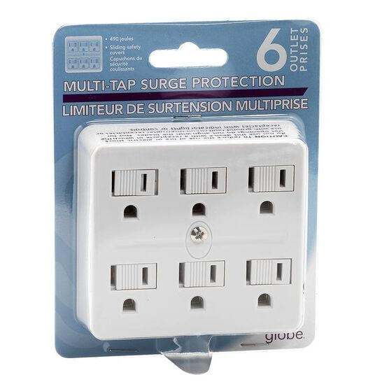 Globe 6 Outlet Grounded