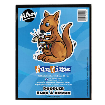 Hilroy Funtime Doodler Pad - 8 x 10 inch - 96 sheets