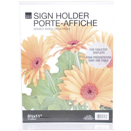 """KG Double-sided Sign holder - 8.5""""X11"""""""