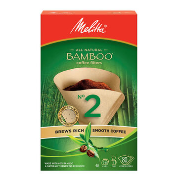 Melita Bamboo Coffee Filters #2 - 80 pack