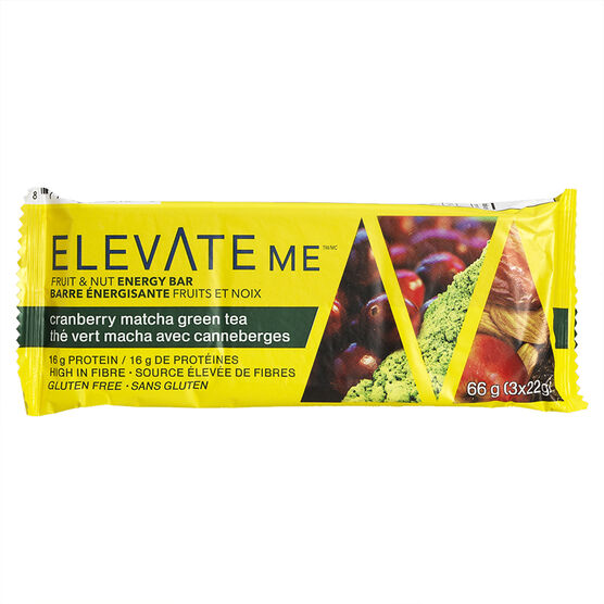 Elevate Me Bar - Matcha Green Tea with Cranberries - 66g