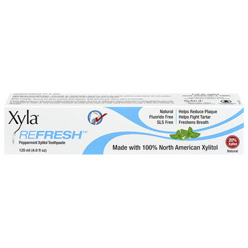 Xyla Refresh Xylitol Toothpaste - Peppermint - 120ml