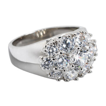 Marca Clear Cubic Zirconia Ring - Size 6
