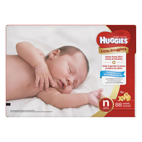Huggies Little Snugglers Diapers - Newborn - 88's