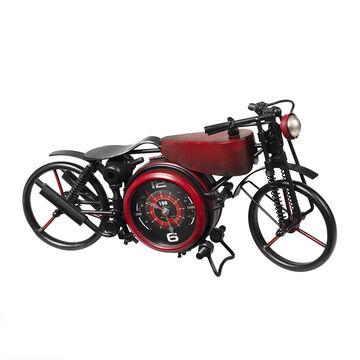 London Drugs Metal Motor Cycle Desk Clock - Red - 44 x 14 x 23cm