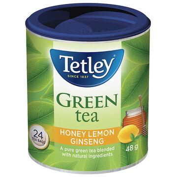 Tetley Honey Lemon Gingseng Green Tea - 24's
