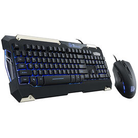 Tt eSports Comander Gaming Gear Combo - Black - KB-CMC-PLBLUS-01