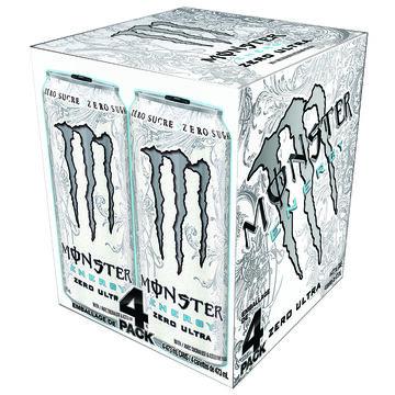 Monster Energy Drink - Ultra Zero - 4 x 473ml