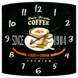 London Drugs Glass Wall Clock - Coffee