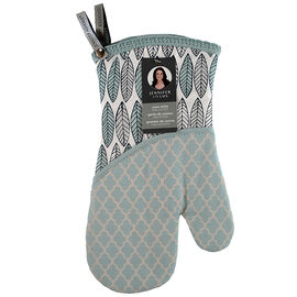 Jennifer Adams Oven Mitts - Light Blue - One Pair