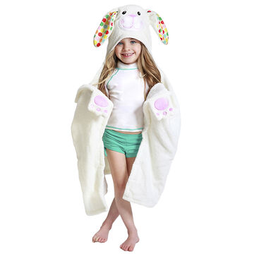 Zoocchini Toddler Hooded Towel - Bella the Bunny - ZOO011