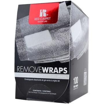 Red Carpet Manicure LED Nail Gel Polish Remover Foils - 100 Count