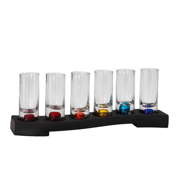 London Drugs Shot Glass with Tray - 6 piece