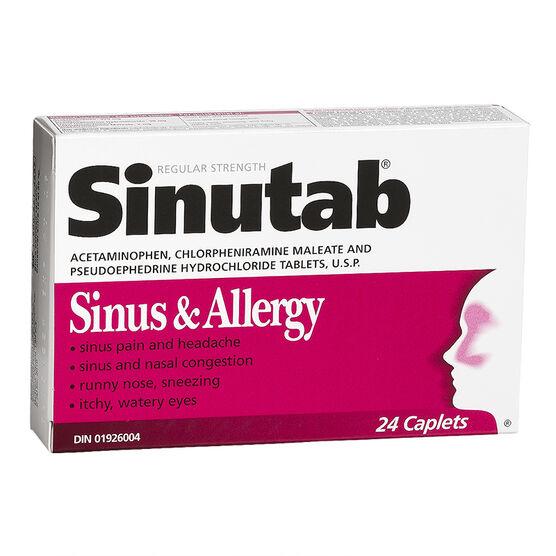 Sinutab Sinus and Allergy Caplets - 24