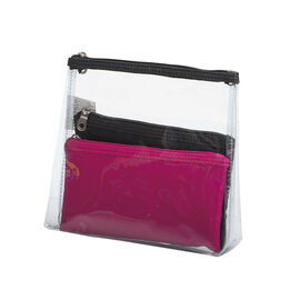 Modella Clear Basics Cosmetic Bag Set - 3 Piece
