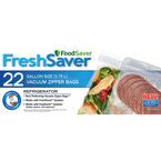 FoodSaver FreshSaver Gallon Size Zipper Bags - 22's - FSFRBZ0326-33R