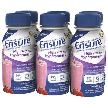 Ensure High Protein -  Strawberry - 6 x 235ml