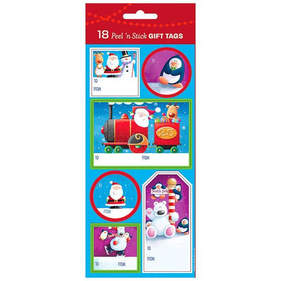 Christmas Holiday Character Gift Tags - 18s