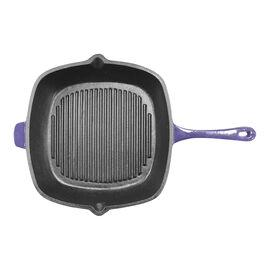"""Neo Enamel Cast Iron Grill Pan - Purple - 11"""""""