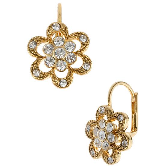 Betsey Johnson Mini Flower Earrings - Crystal