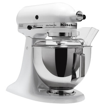 KitchenAid Ultra Power Plus Stand Mixer - White - KSM100PSWH