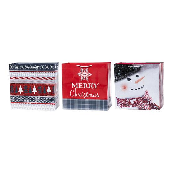 Plus Mark Nordic Glitter Gift Bag - Square - 052046LDT - Assorted