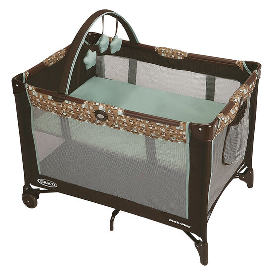 Graco Bassinet Pack n Play - Little Hoot - Brown/Blue