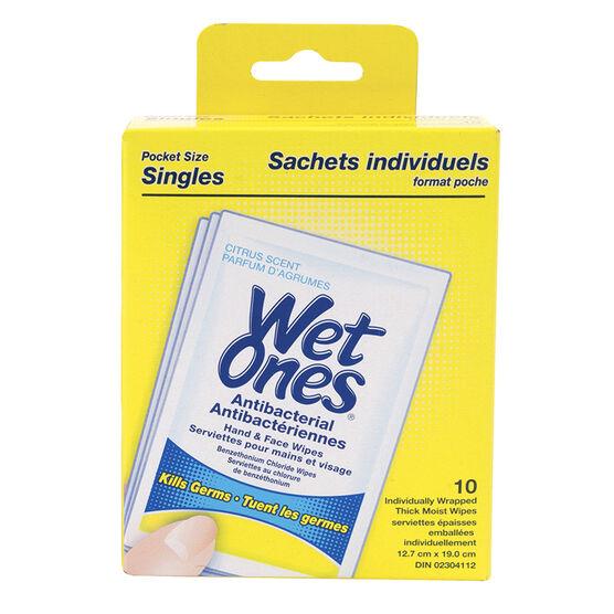 Wet Ones Anti-Bacterial Citrus - 10's
